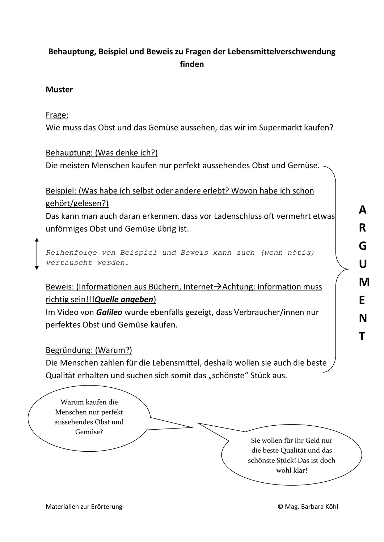 Materialien Zur Erorterung Unterrichtsmaterial Im Fach Deutsch Erorterung Unterrichtsmaterial Unterrichtsvorbereitung