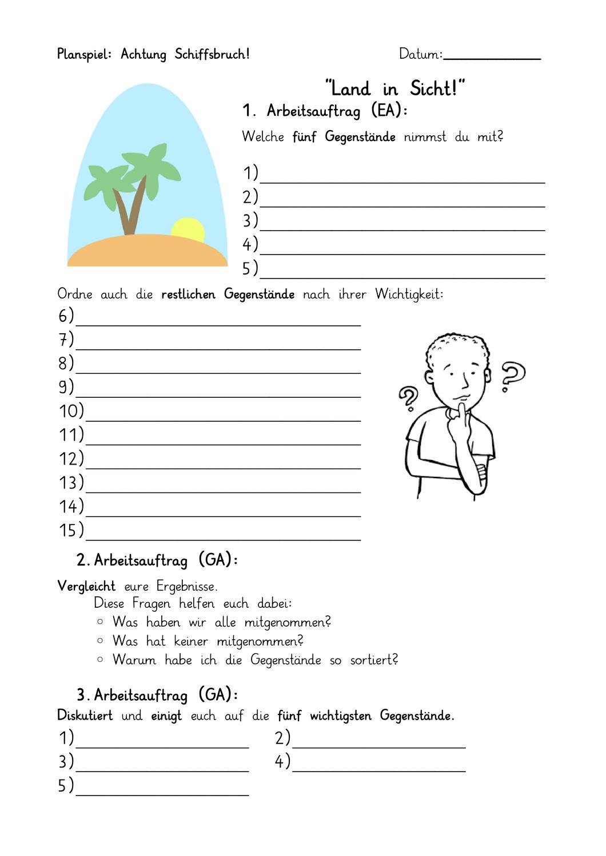 Planspiel Bedurfnisse Und Ein Einstieg In Die Bedurfnispyramide Unterrichtsmaterial Biologie Planer