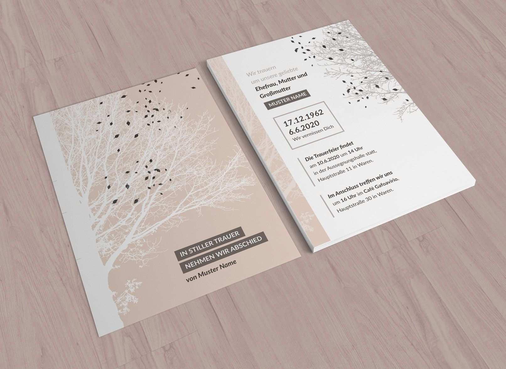 Trauerkarten Vorlagen Fur Einladungen Zu Beerdigung Und Trauerfeier Trauerkarte Trauerkarten Gestalten Trauerfeier