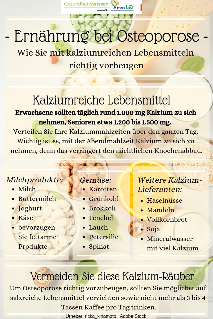Ernahrung Bei Osteoporose Wie Sie Mit Kalziumreichen Lebensmitteln Knochenschwund Kalziumreiche Lebensmittel Osteoporose Ernahrung Calciumreiche Lebensmittel