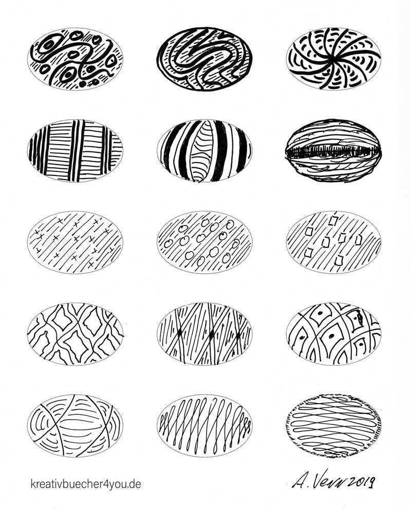 Ellipsen Muster Zeichnen 15 Einfache Beispiel Zum Nachzeichnen