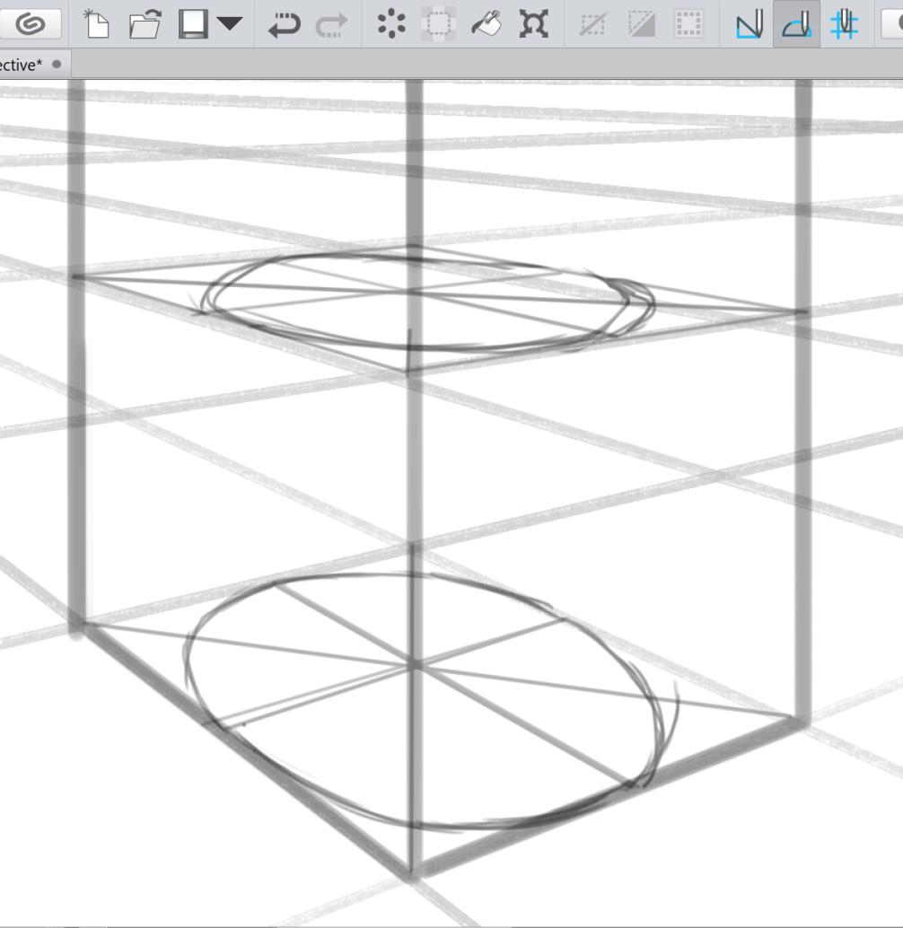 Zeichnen Von Ellipsen Mit Perspektivischen Linealen Von Falynevarger Clip Studio Tips