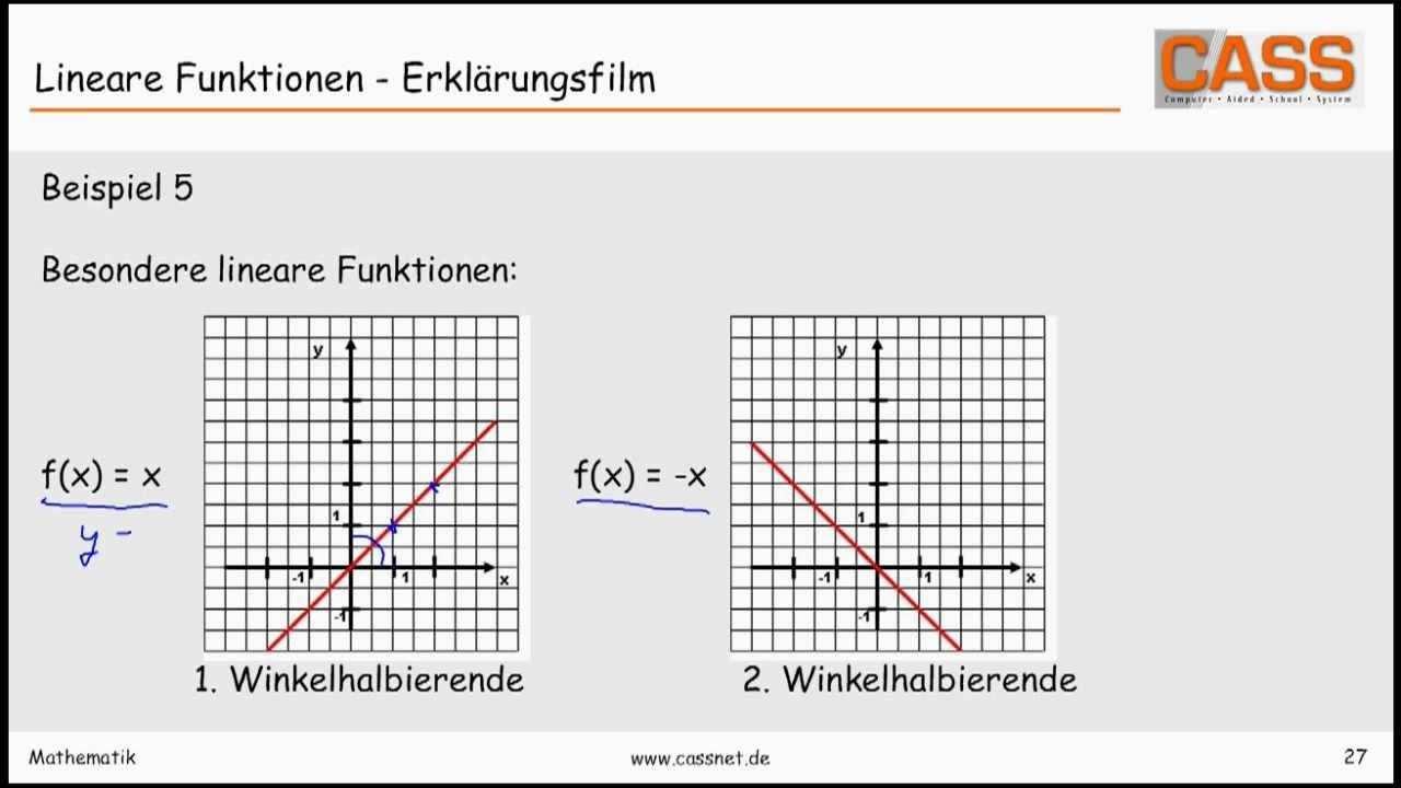 Lineare Funktionen Erklarungsfilm Lineare Funktion Filme Mathematik
