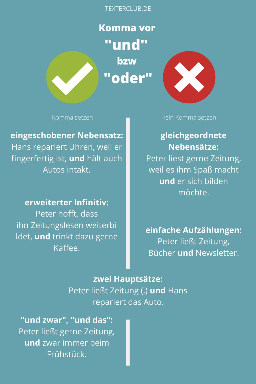 Typische Rechtschreibfehler Komma Vor Oder Komma Vor Und Worte Schreiben Deutsche Sprache Lernen Lernen Tipps Schule