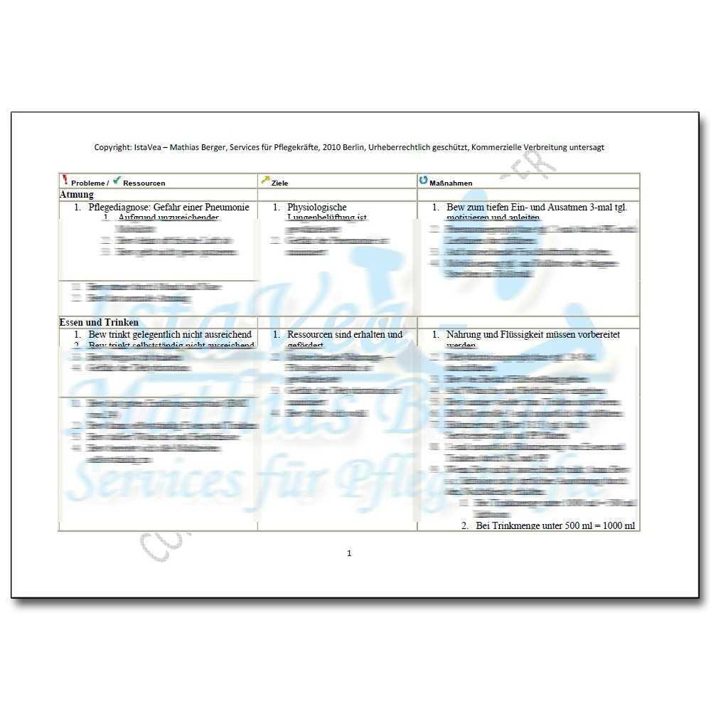 Download Pflegeplanung Demenz Inkontinenz Thrombosegefahr