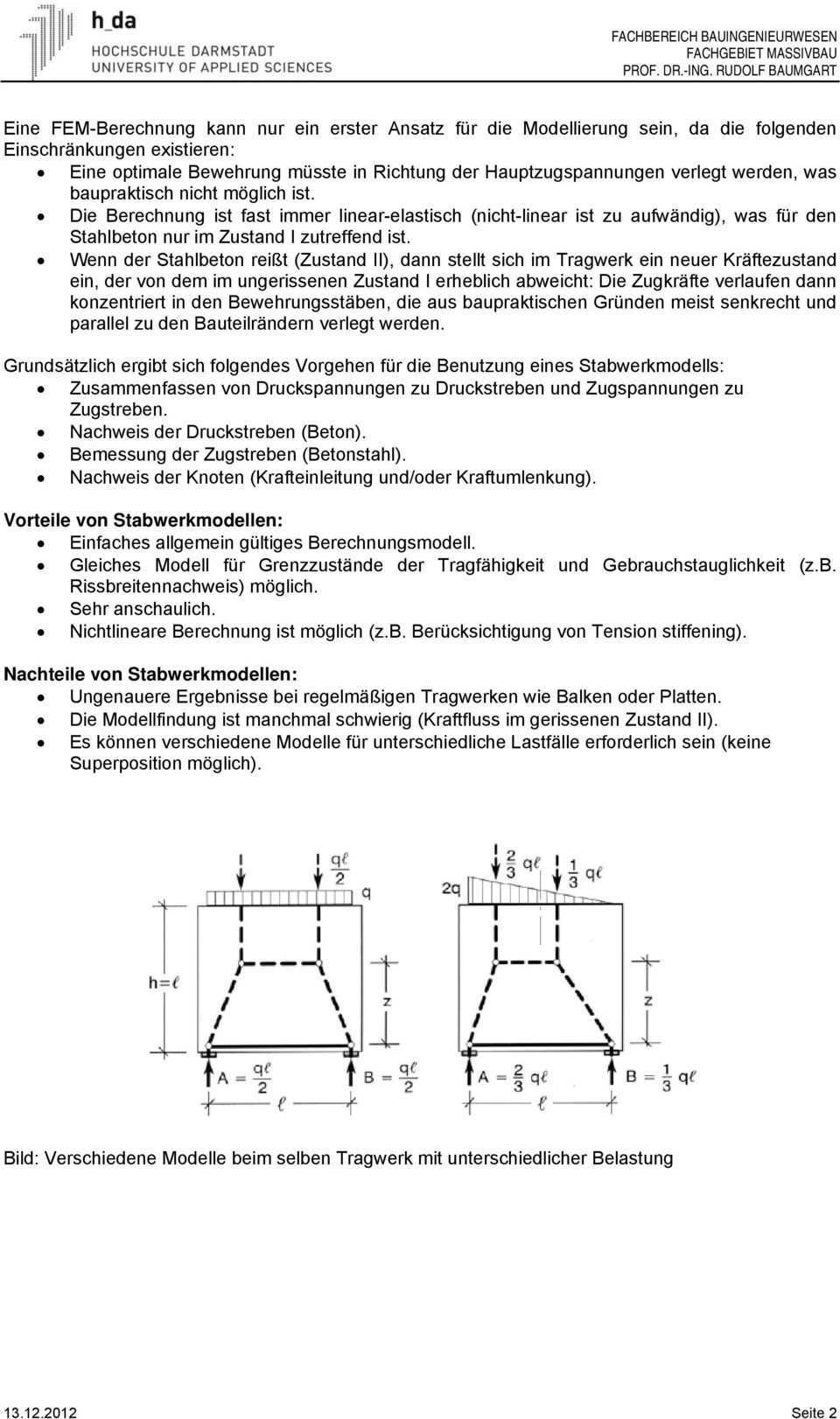 Stabwerkmodelle Im Stahlbetonbau Pdf Kostenfreier Download