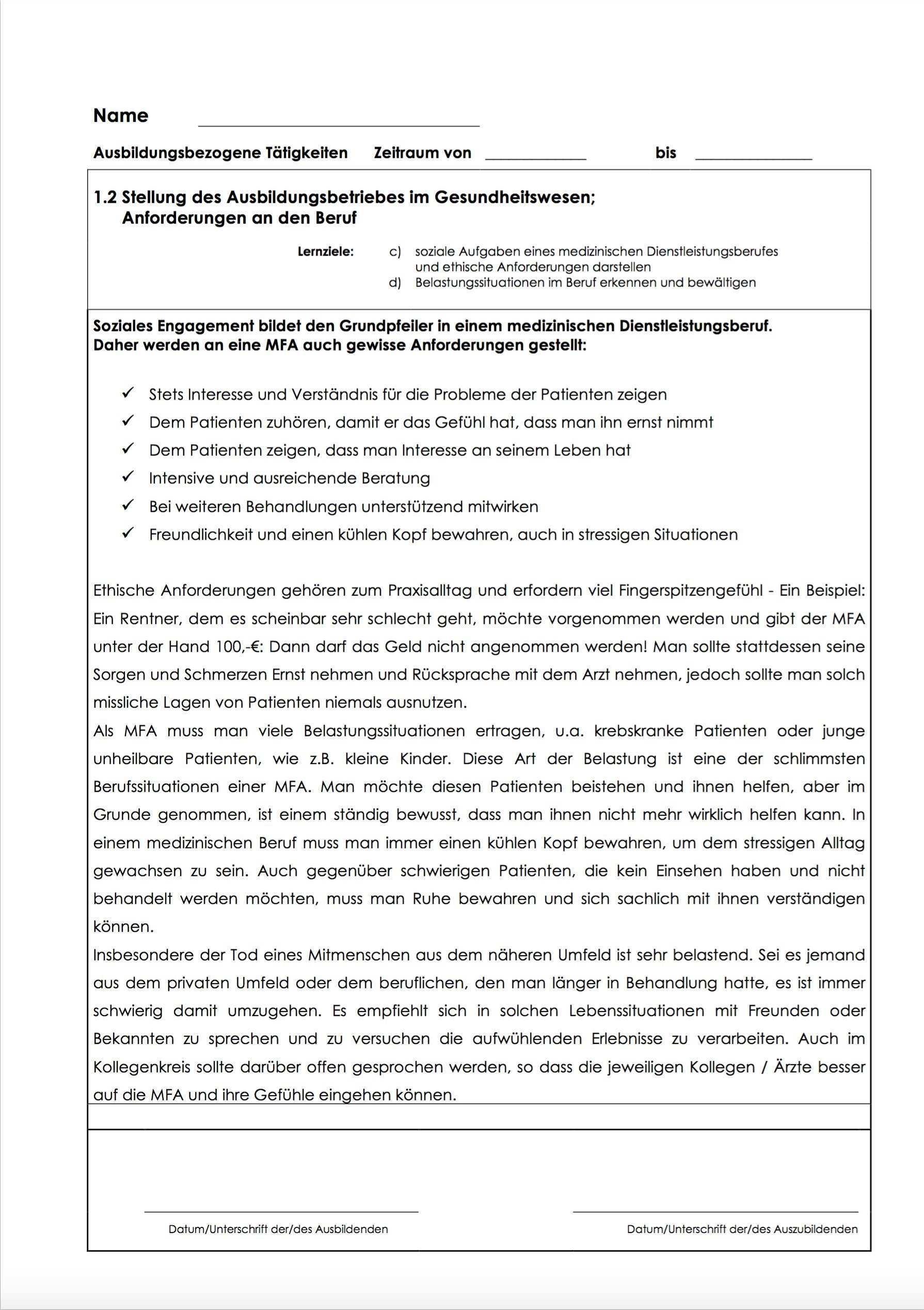 Das Mfa Berichtsheft Als Musterlosung Fur Medizinische Fachangestellte Amazon De Marie Reiter Deinberichtsheft De Christina Hoster Bucher