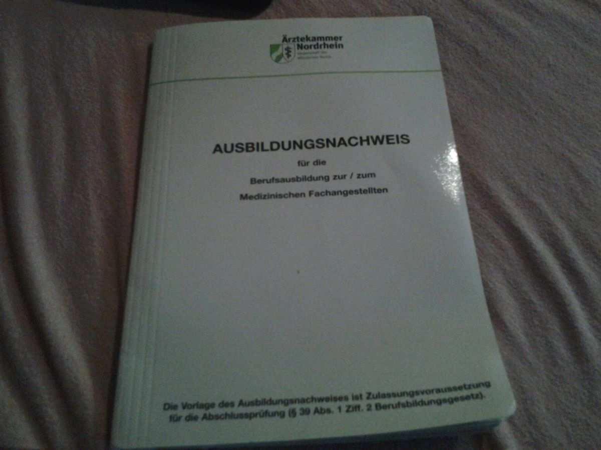 Berichtsheft Ausbildungsnachweis Mfa In 50259 Pulheim For 15 00 For Sale Shpock