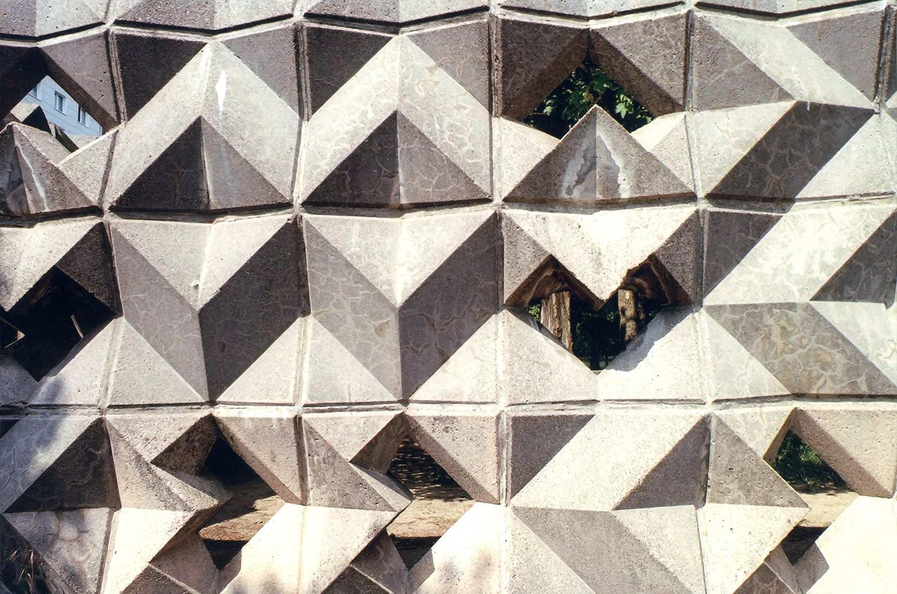 Formstein Beton Berlin Lichtenber 1975 Plattenbau Steine Ddr