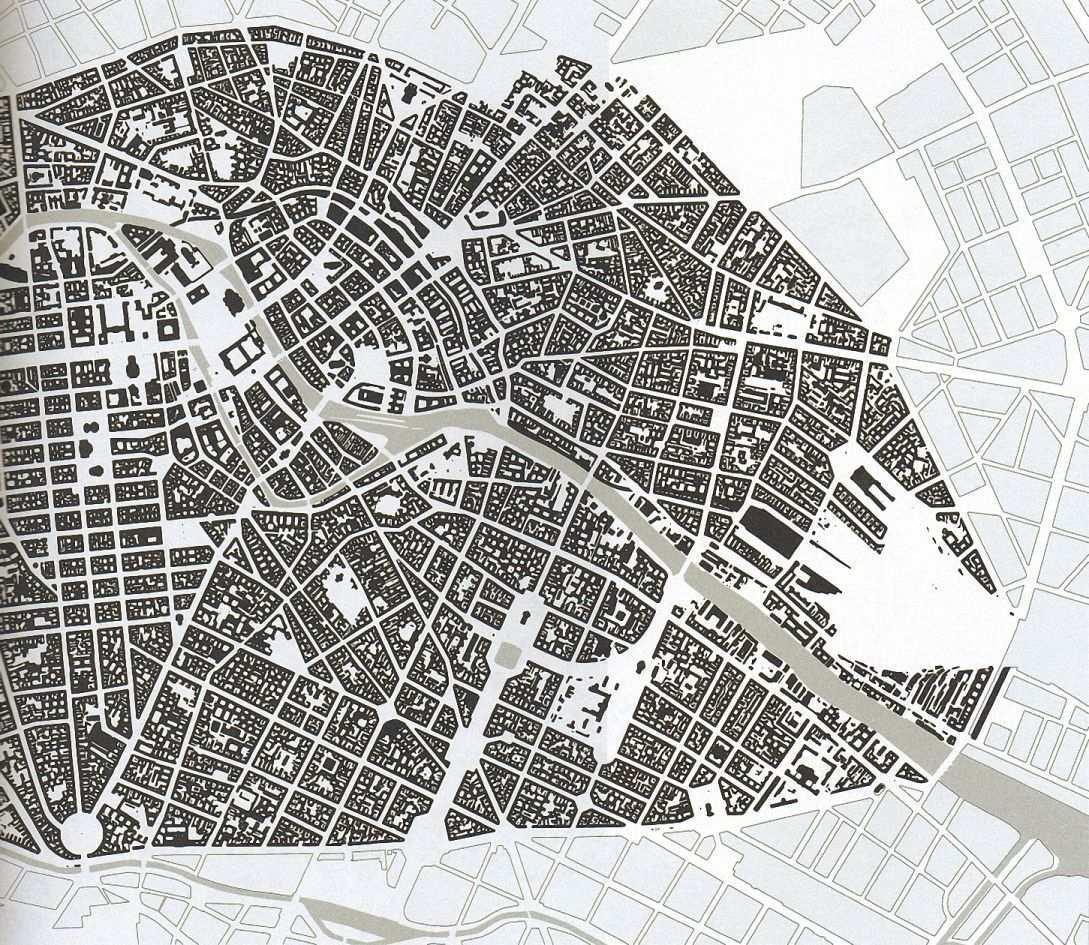 Bebauungsdichte In Berlin Mitte 1940 Vor Beginn Der Bombadierung Durch Die Alliierten Fliegerverbande Berlin City Map Art City Maps
