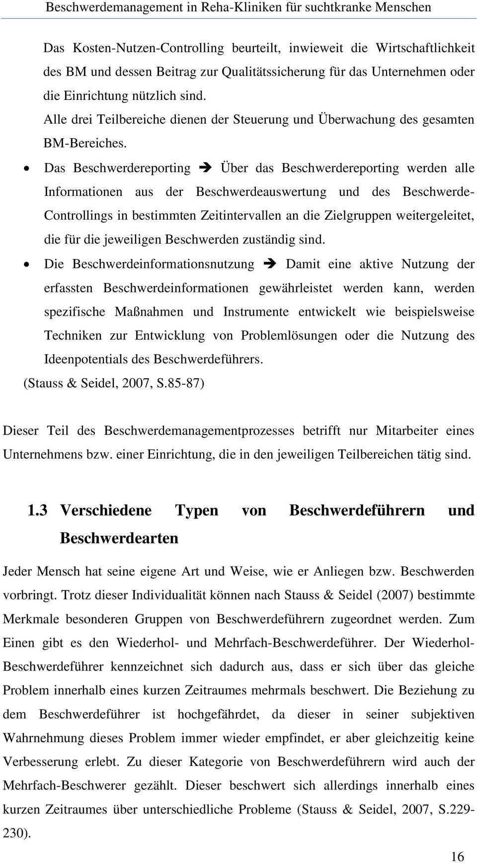 Beschwerdemanagement In Reha Kliniken Fur Suchtkranke Menschen Pdf Free Download