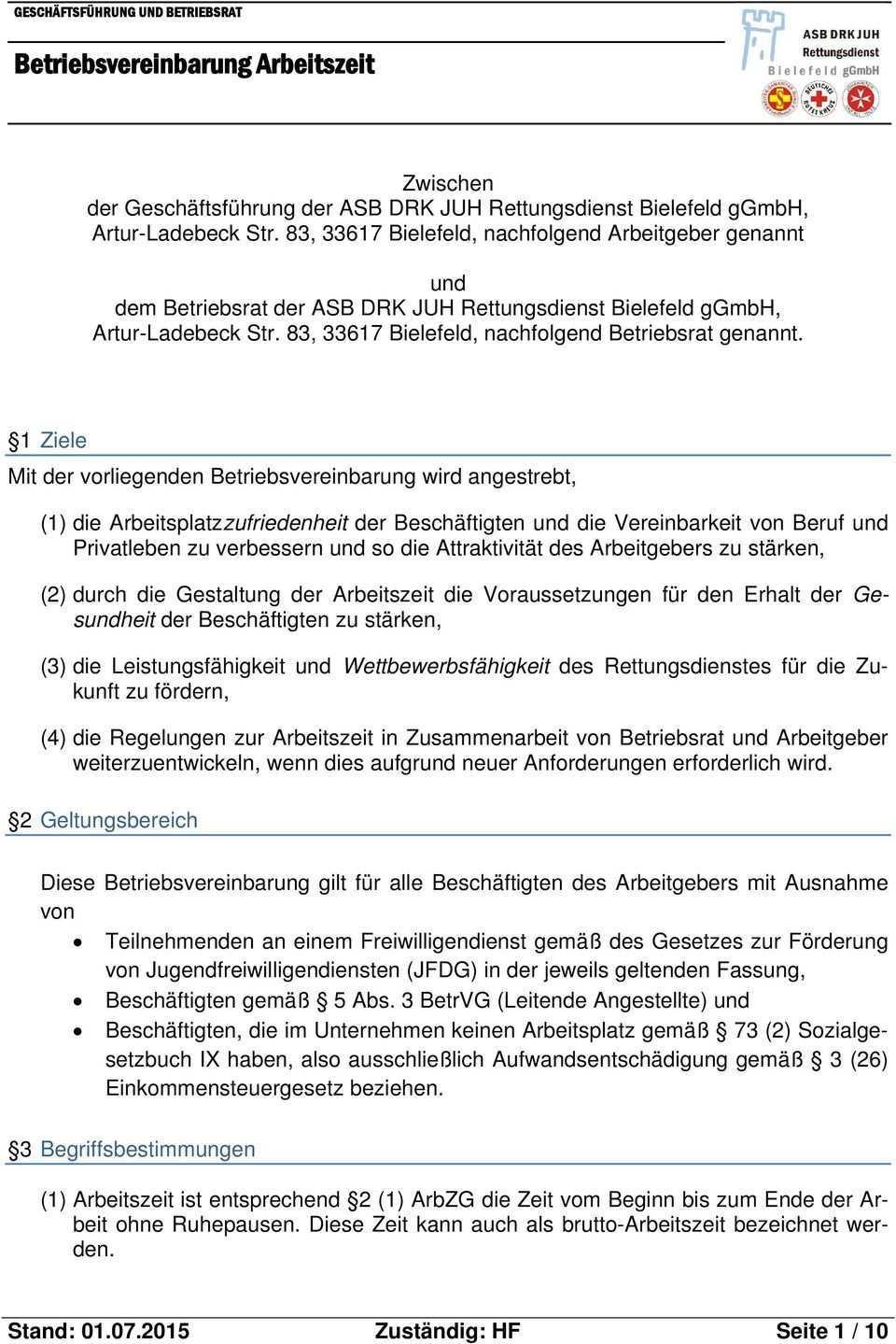 Betriebsvereinbarung Arbeitszeit Pdf Free Download
