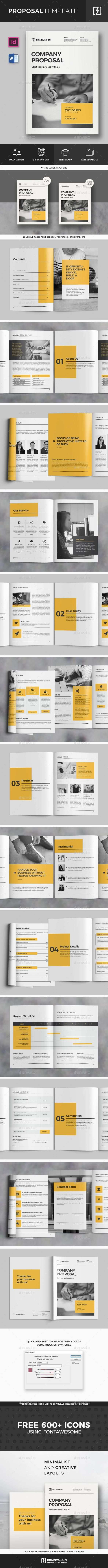 Proposal Template Vol 02 Proposal Design Proposal Templates Corporate Logo Design Inspiration