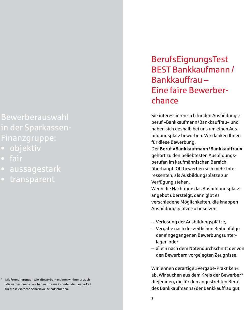 S Sparkasse Informationen Zum Berufseignungstest Best Bankkaufmann Bankkauffrau Pdf Free Download