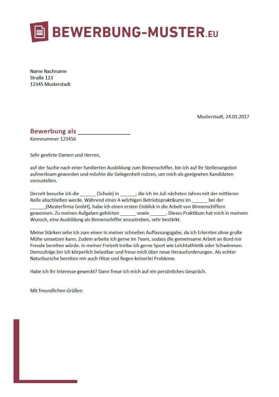 Kostenlose Bewerbungsvorlage Binnenschiffer In Bewerbung Muster Binnenschiffer Kostenlos Bewerbungsmuster Vorlage Bewerbungsvorlage Vorlagen Xing Lebenslau In 2020