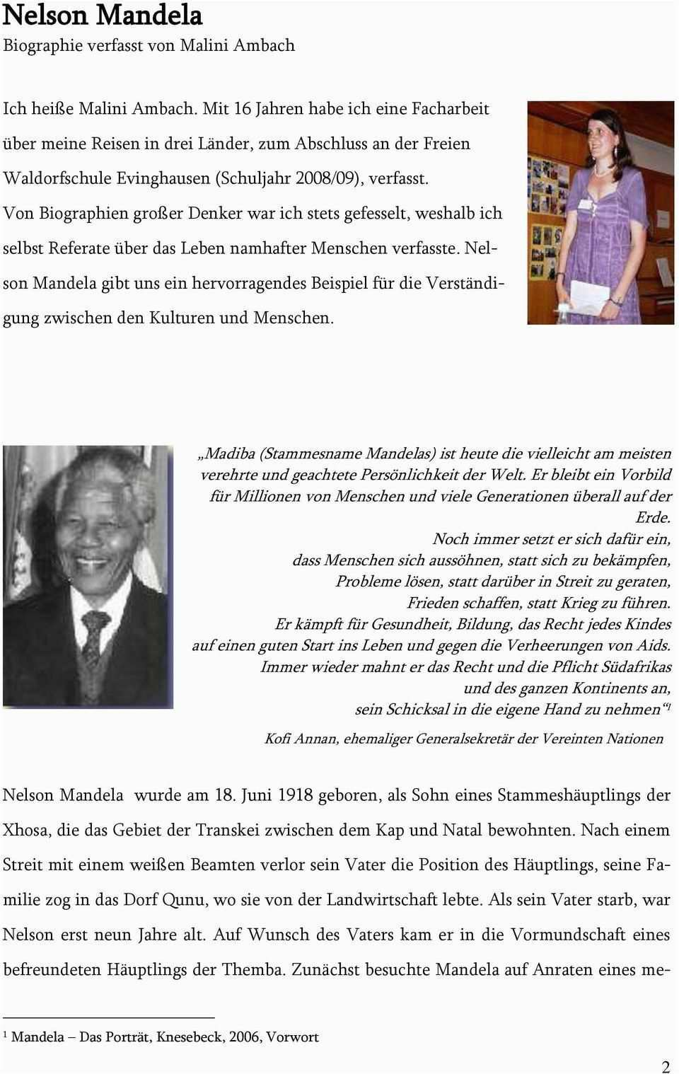 Nelson Mandela Lebenslauf Deutsch Nelson Mandela Lebenslauf Leben