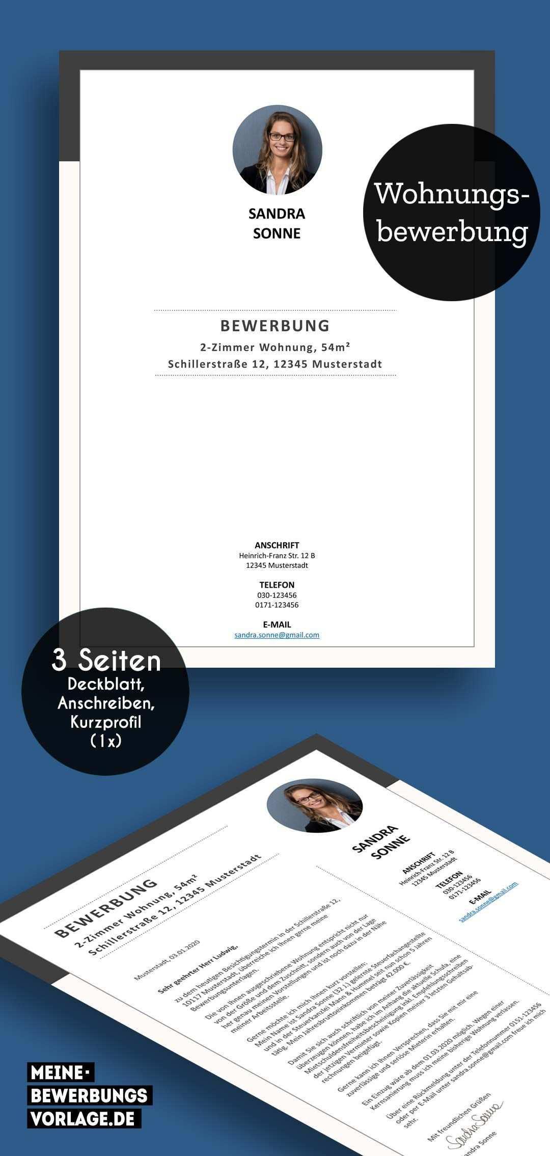 Wohnungsbewerbung Bewerbung Bewerbung Schreiben Flugblatt Design