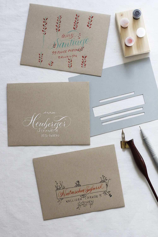 Kalligraphie Diy Kuverts Beschriften We Love Handmade Kreativ Beschriften Kuvert Lettering