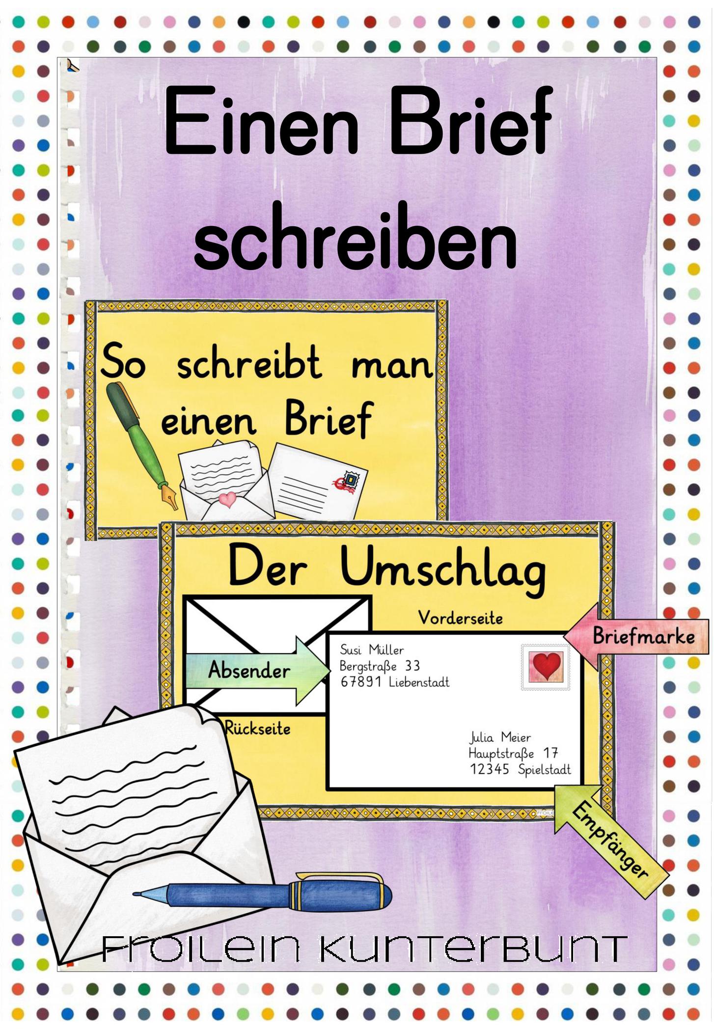Brief Postkarte Schreiben Briefe Schreiben Postkarte Schreiben Brief Schreiben Grundschule
