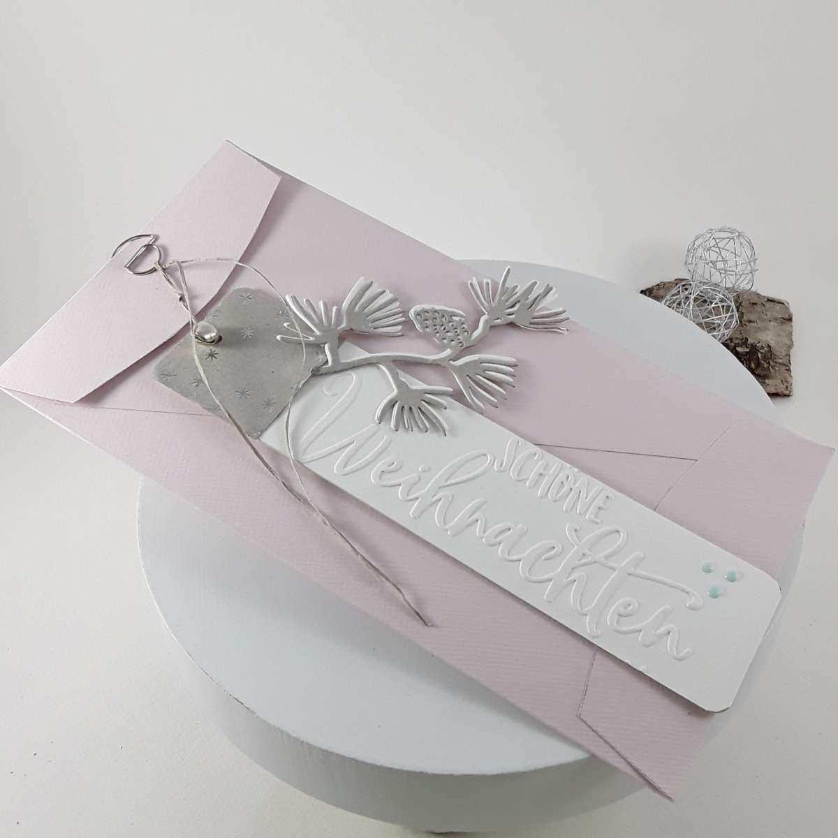 Weihnachtlicher Briefumschlag Papier Handwerk Umschlag Falten Gutscheine Verschenken