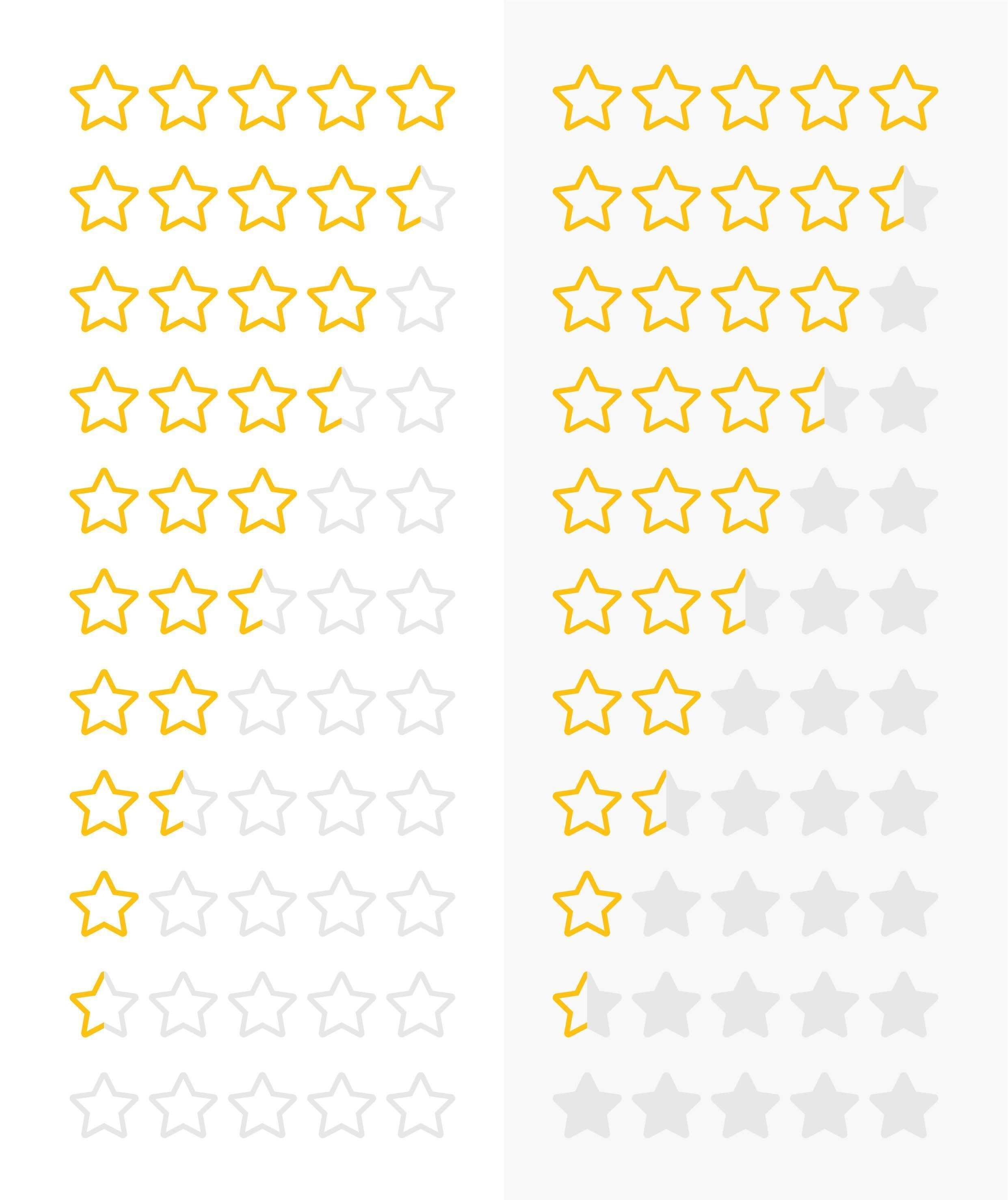 Vorlagen Fur Die Sterne Bewertung Auf Webseiten Und Zur Illustration Designvorlagen Vorlagen Produktbroschure