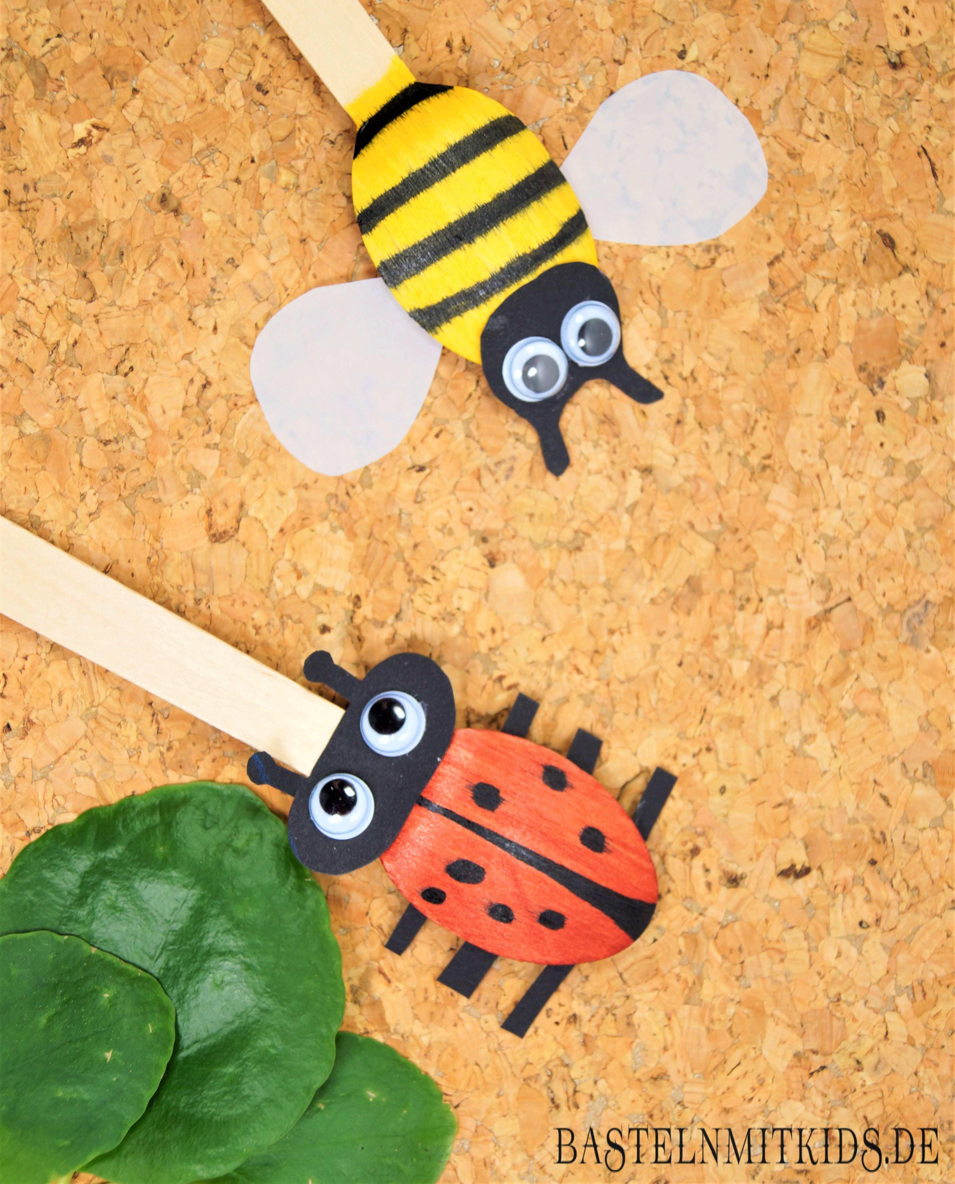 Bienen Basteln Mit Kindern Bastelnmitkids Bienen Basteln Basteln Mit Kindern Holzloffel Basteln