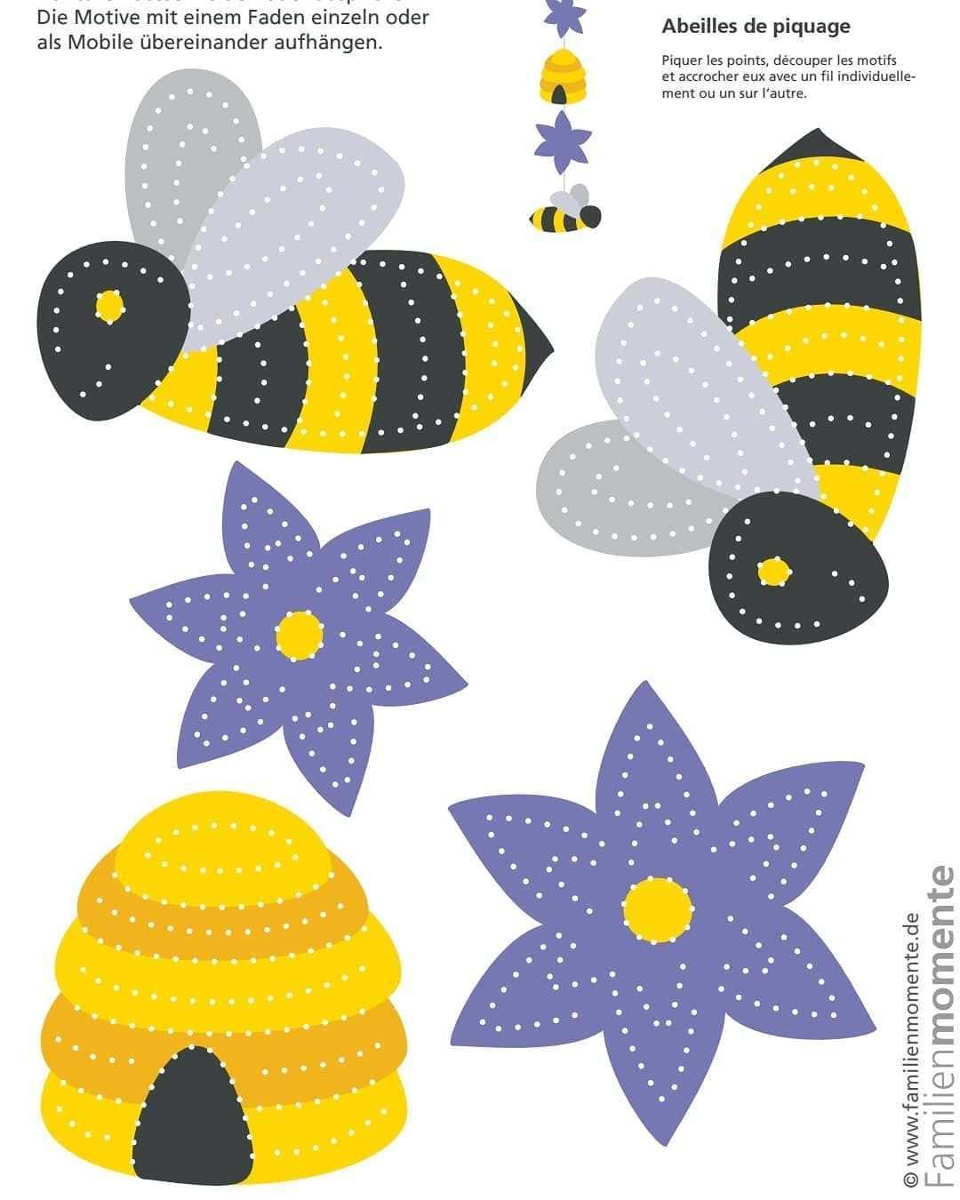 Familienmomente On Instagram Mit Insekten Zum Prickeln Starten Wir Ins Neue Jahr Es Geht Los Mit Den Fleissigen Bienen Bienen Basteln Insekten Basteln
