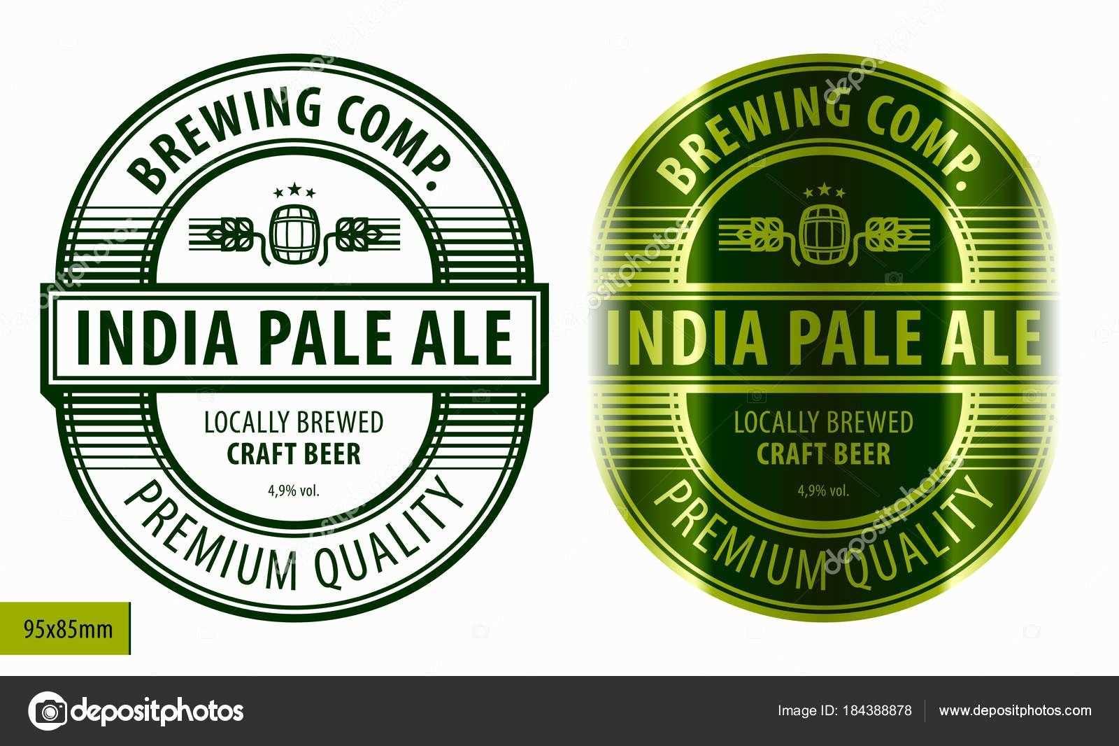 Inspirational Bier Etikett Vorlage Stockvektor C Heizel In 2020 Beer Label Design Template Beer Label Design Beer Label