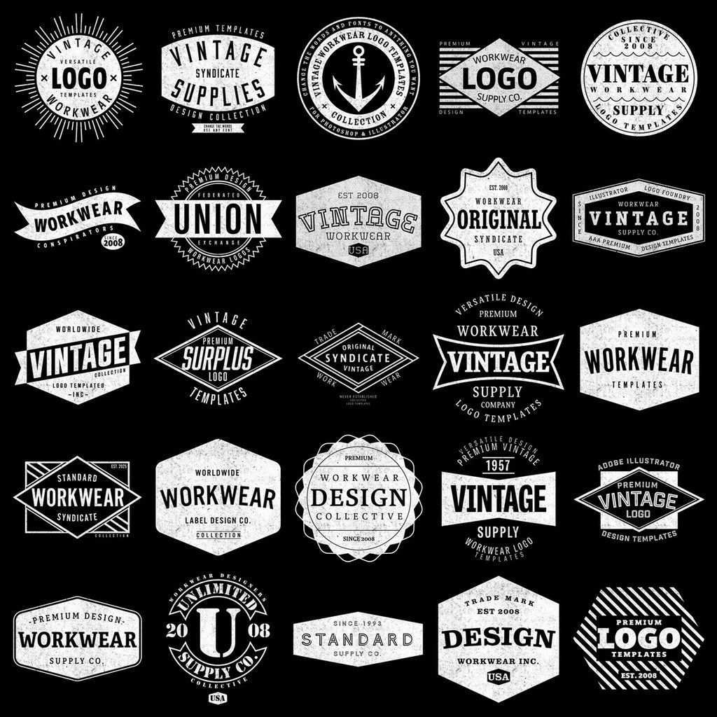 Graphic Design Supply Vectors Mockup Templates Bitmap Textures Cooles Logo Vintage Logo Typografie Design