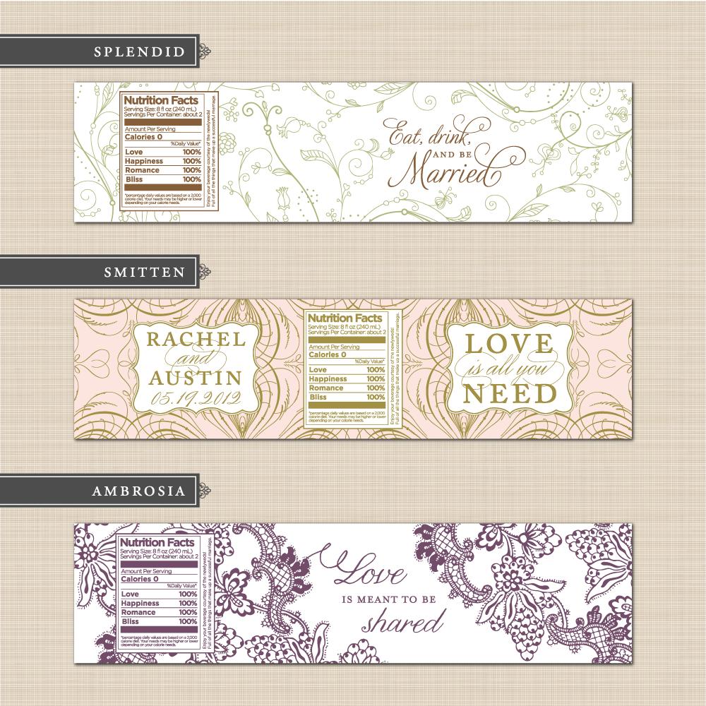 Belletristics Stationery Design And Inspiration For The Diy Bride New Ready Made Designs Hochzeitsflaschen Gastgeschenke Hochzeit Kreativ Beschriften