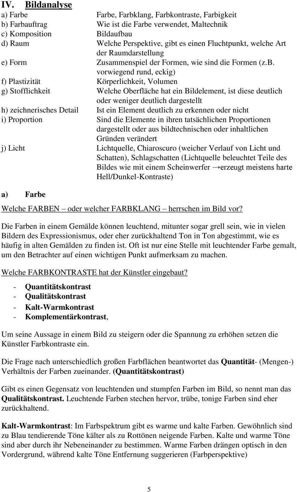 Anleitung Fur Eine Bildbeschreibung Und Eine Bildanalyse Pdf Free Download