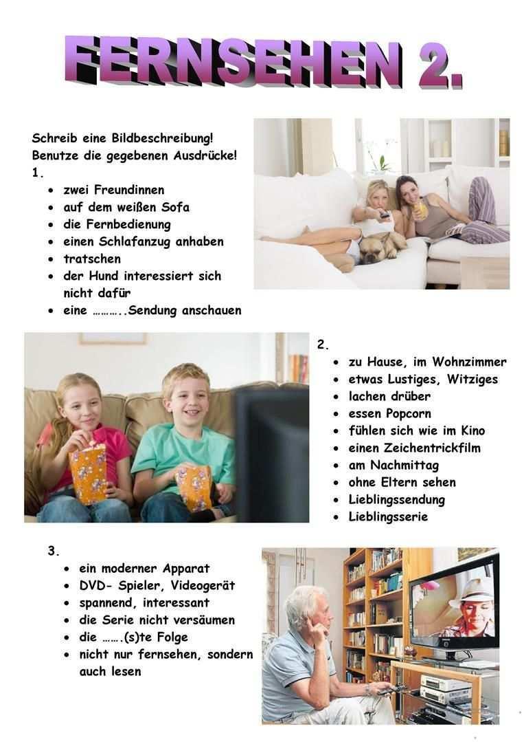 Fernsehen 2 Deutsche Sprache Deutsch Lernen Fernseher