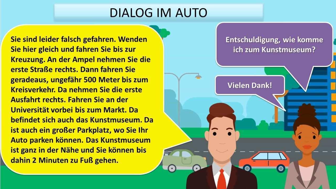Wegbeschreibung Deutsch Lernen Lernen Deutsch