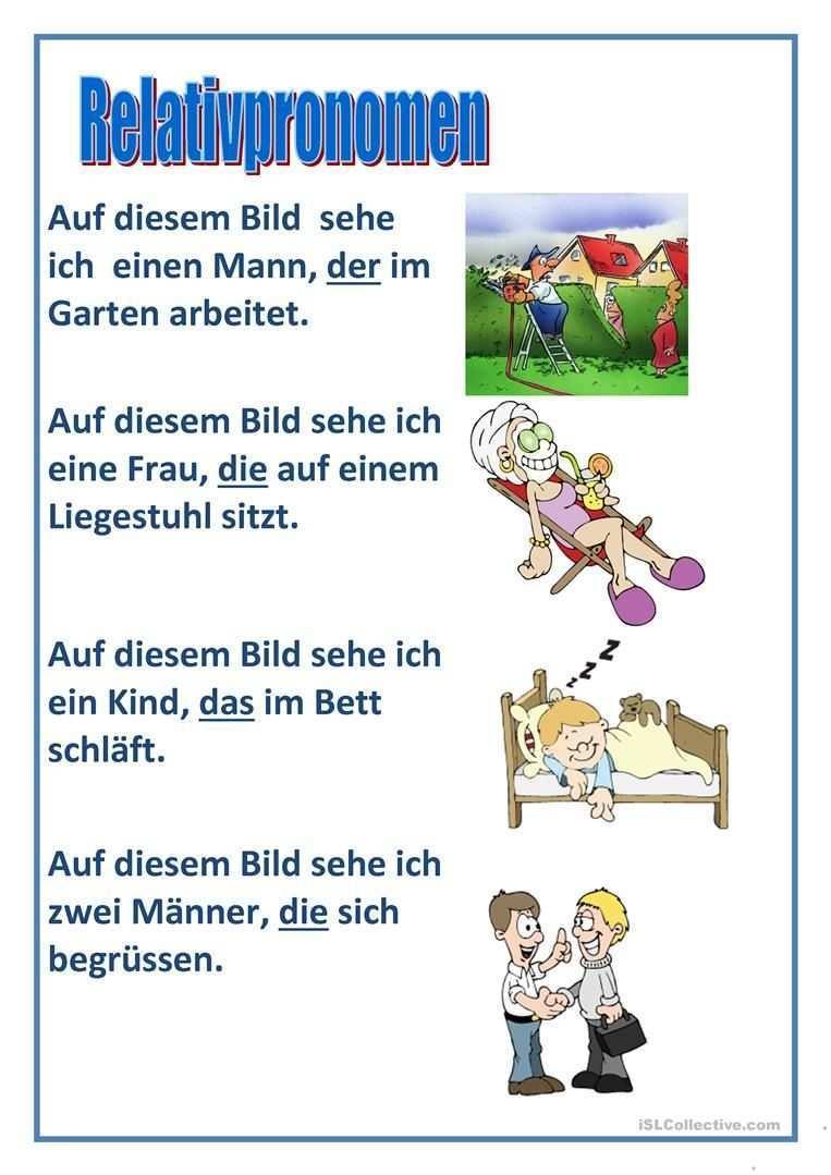Relativpronomen Deutsche Sprache Deutsch Lernen Deutsche Grammatik