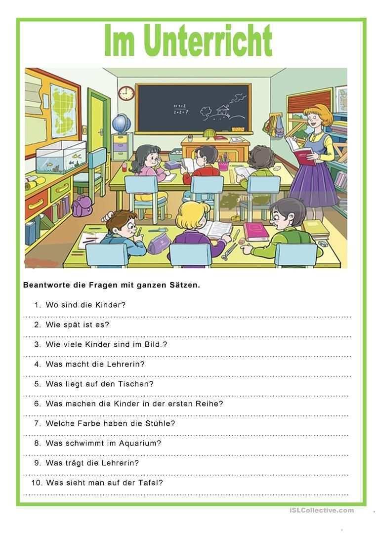 Bildbeschreibung Im Unterricht Franzosisch Lernen Fur Kinder Franzosisches Klassenzimmer Franzosisch Stunde