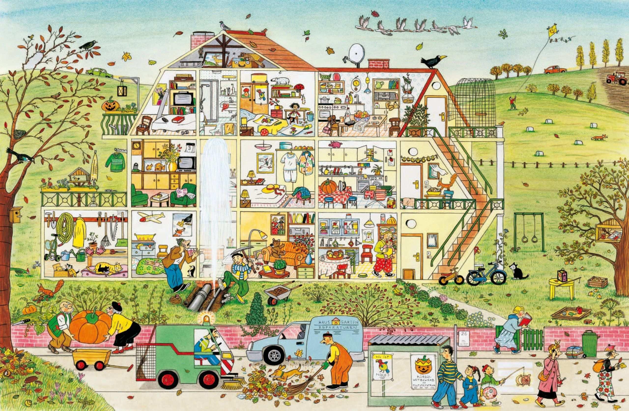 Herbst Wimmelbuch Rotraut Susanne Berner 9783836951012 Amazon Com Books Lustige Geschichten Fur Kinder Wimmelbild Bucher Fur Kinder
