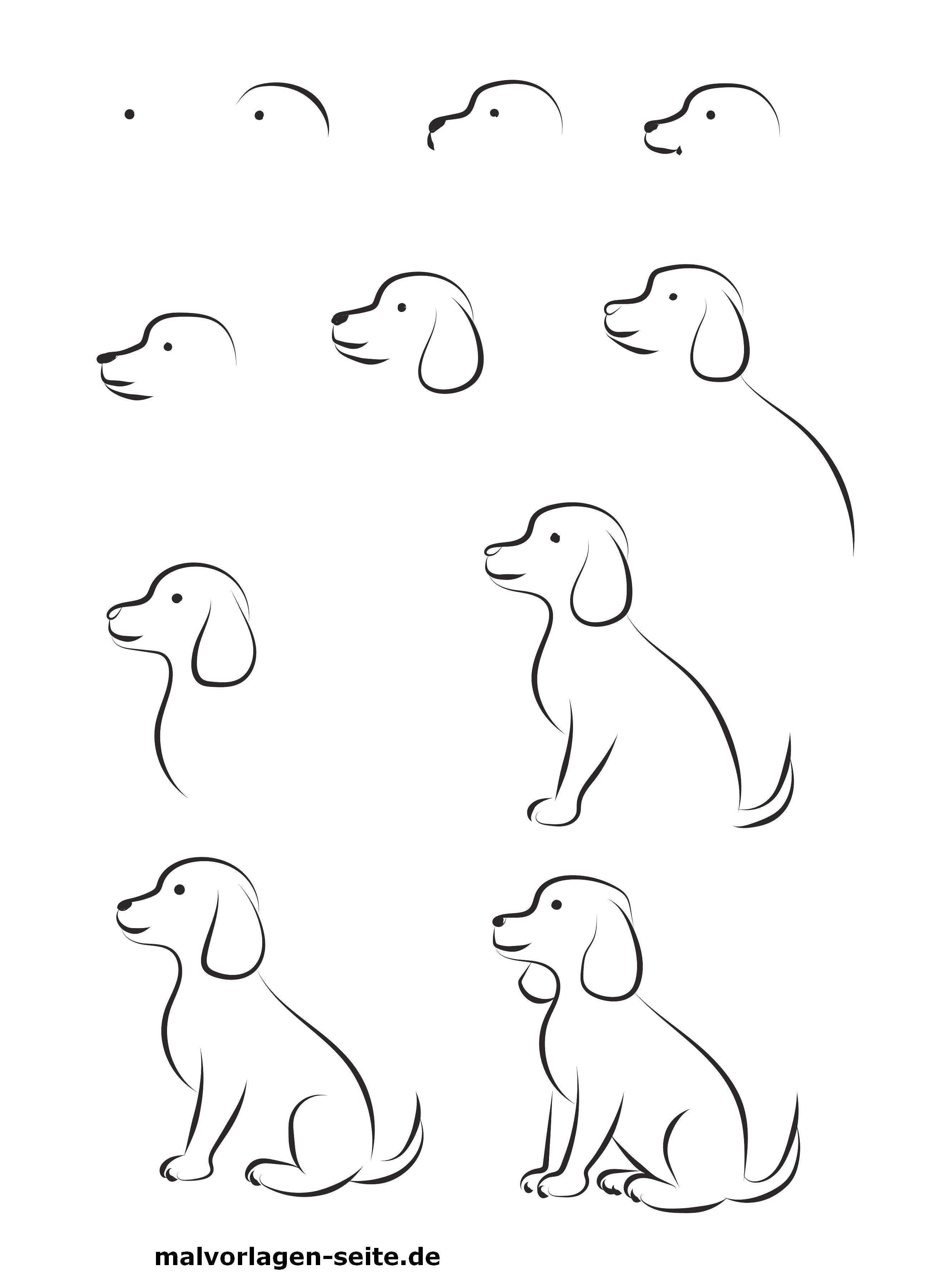 Malen Einfache Motive Bilder Malen Einfach Hund Malen Selber Malen