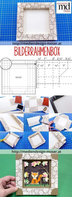 Papierturnier Zum Thema Herbst Mediendesign Moser Papier Bilderrahmen Bilderrahmen Basteln Bastelarbeiten Aus Papier Und Pappe