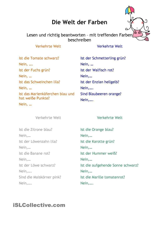 Die Welt Der Farben Projekt Farben Kindergarten Vorschullieder Gedichte Fur Kinder