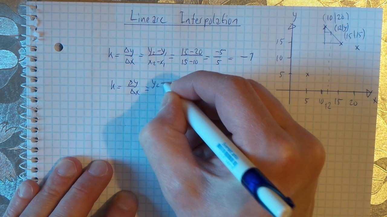 10 Lineare Interpolation Ein Kurzes Beispiel Youtube