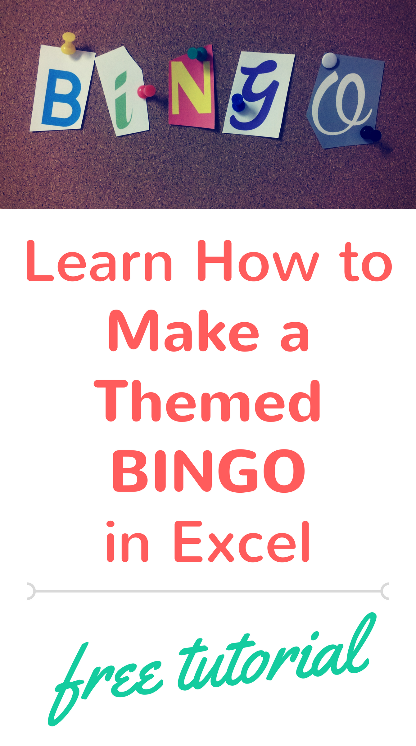 Create Bingo Game Cards Using Excel Short Tutorial On How To Make Bingo Cards That You Can Customize For Any Theme Bing Bingo Bingo Cards Business For Kids