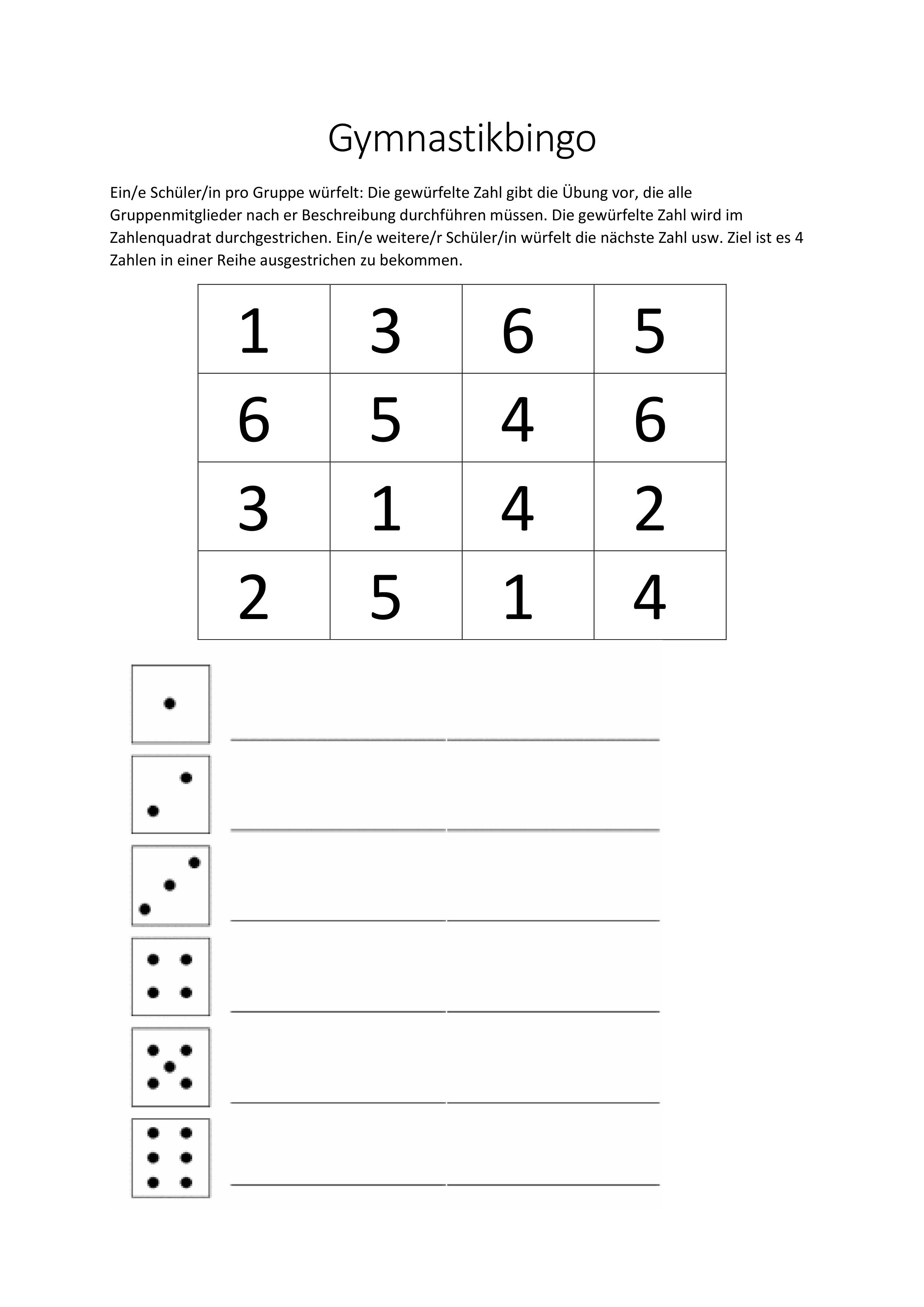 Bingo Vorlage Bingo Vorlage Bingo Unterrichtsmaterial