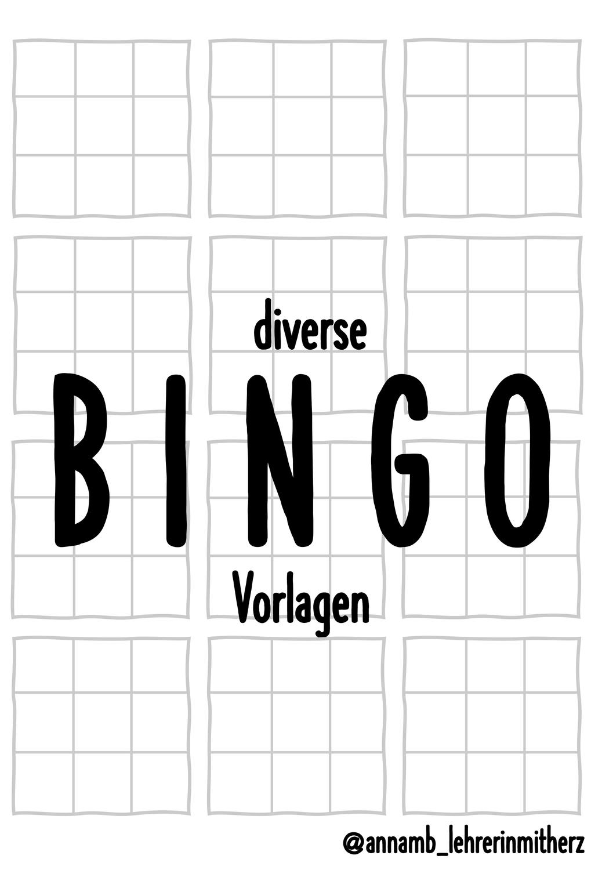 Bingovorlagen Blanko Unterrichtsmaterial In Den Fachern Daz Daf Englisch Fachubergreifendes Franzosisch Spanisch Bingo Vorlage Bingo Franzosisch Lernen Fur Kinder