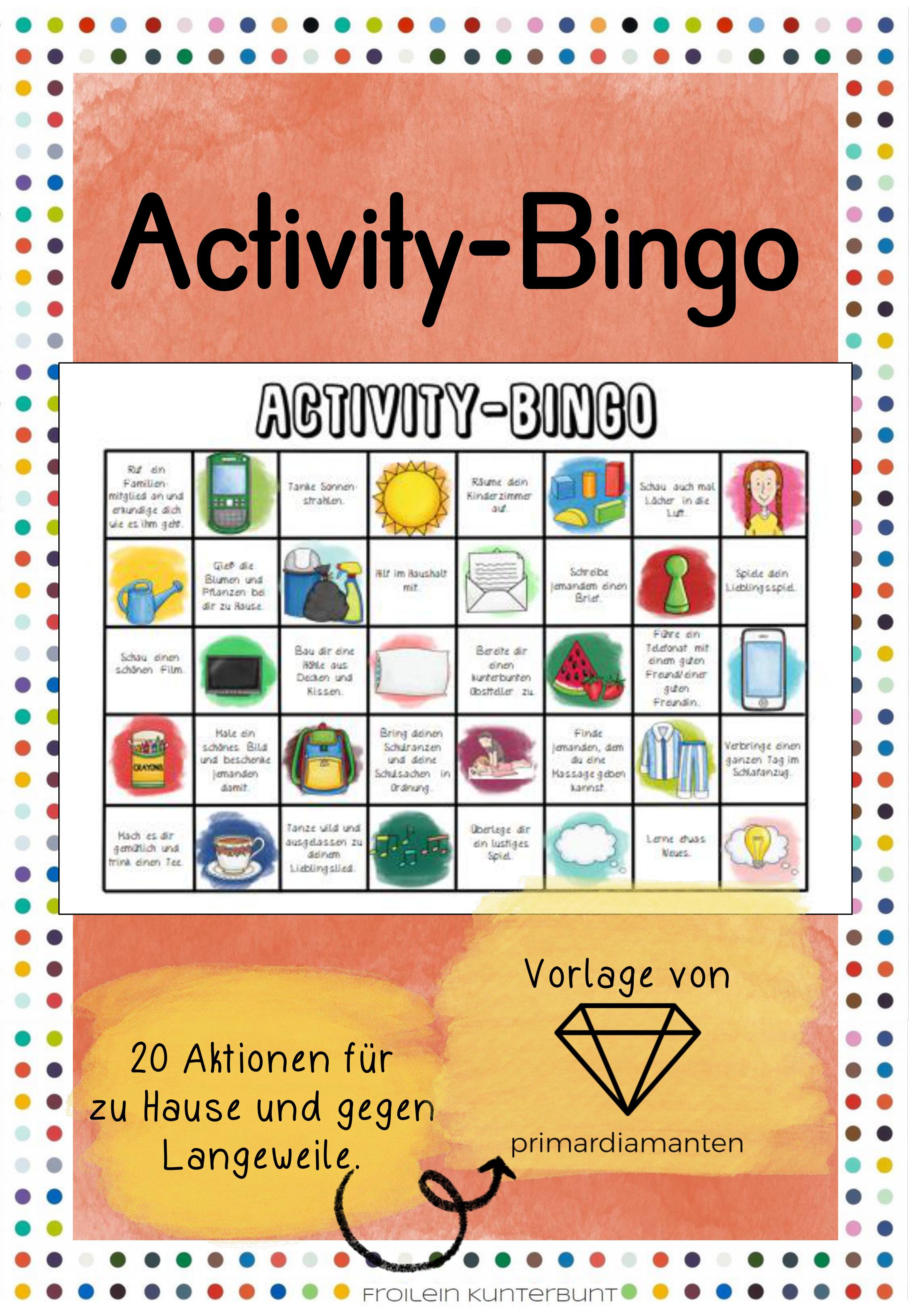 Activity Bingo Unterrichtsmaterial Im Fach Fachubergreifendes Unterrichtsmaterial Bingo Bingo Vorlage