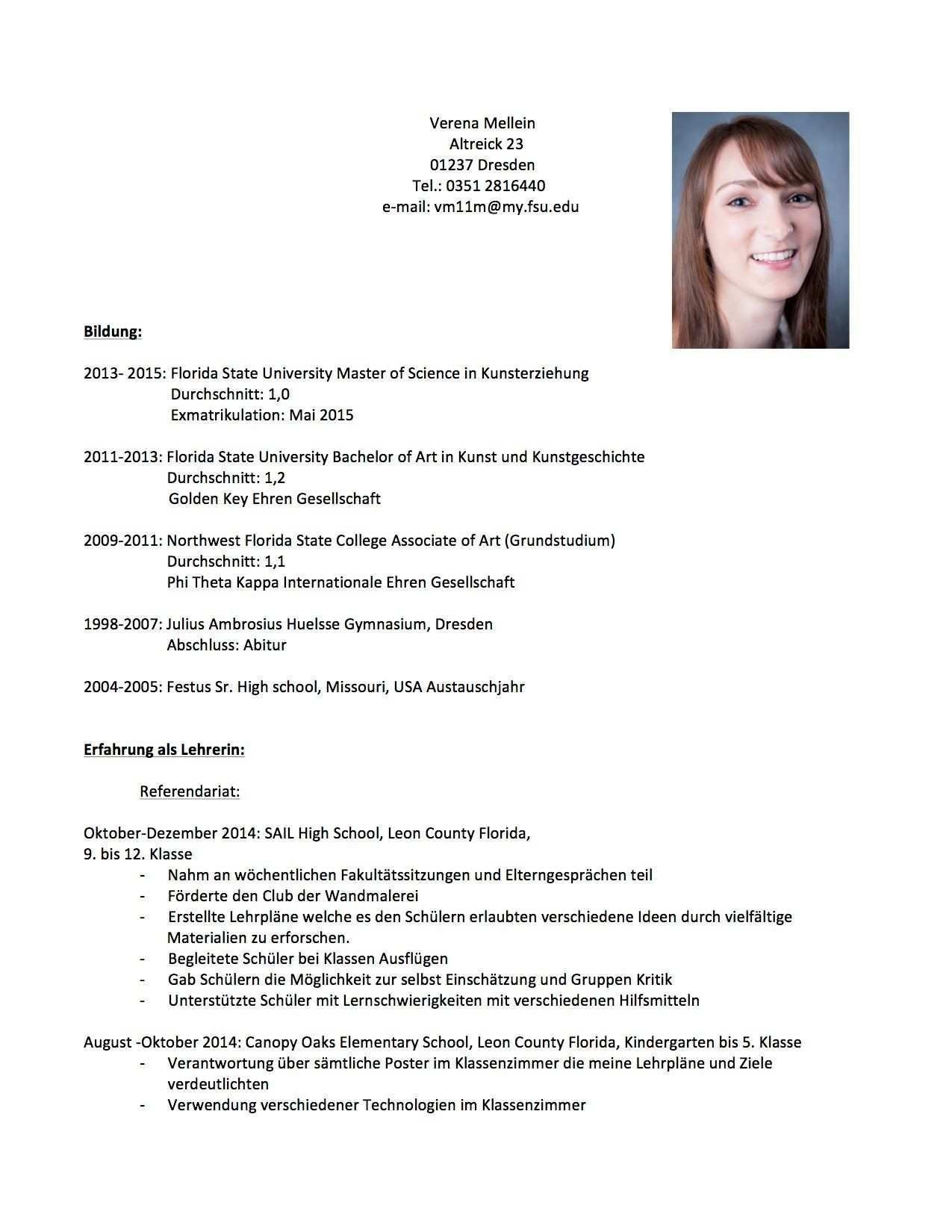 Lebenslauf Verena Mellein Lehrer Lebenslauf Lehrer Muster Vorlage Bewerbung Beispiel Tabellarischer Schule Schreiben Studium Angeben Vorlagen Referendariat In 2020