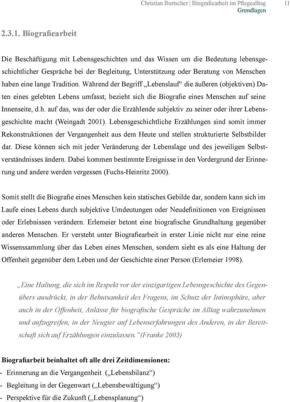 Burtscher Christian Biografiearbeit Im Pflegealltag Fachbereichsarbeit Pdf Kostenfreier Download