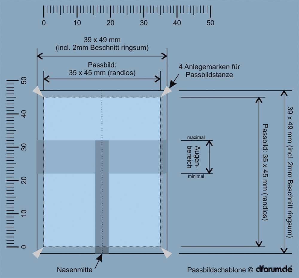 Biometrisches Passbild Photoshop Vorlage Und Online Generator Ifun De