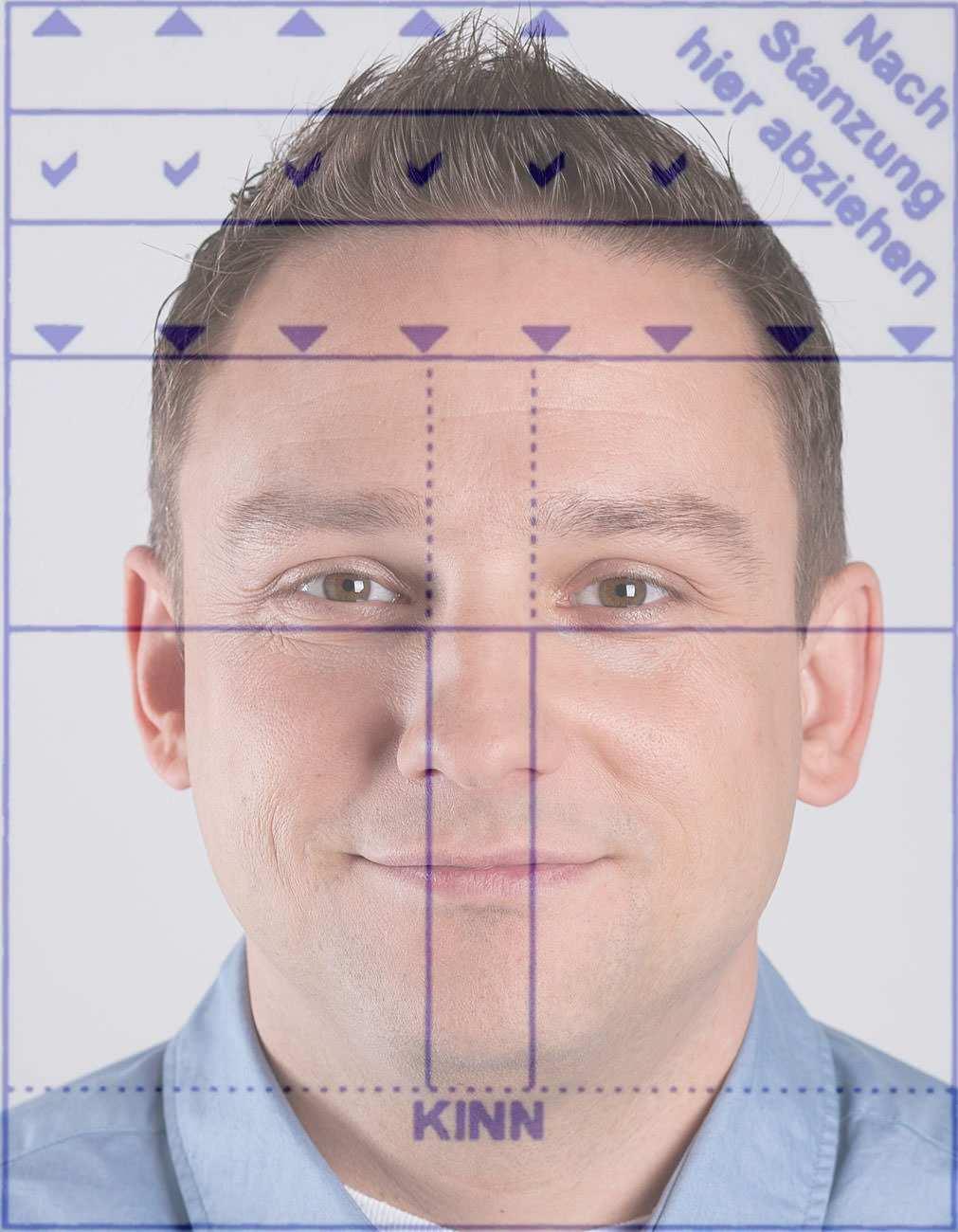 Biometrisches Passbild Mit Vorlagen Schnell Druckfahig Machen