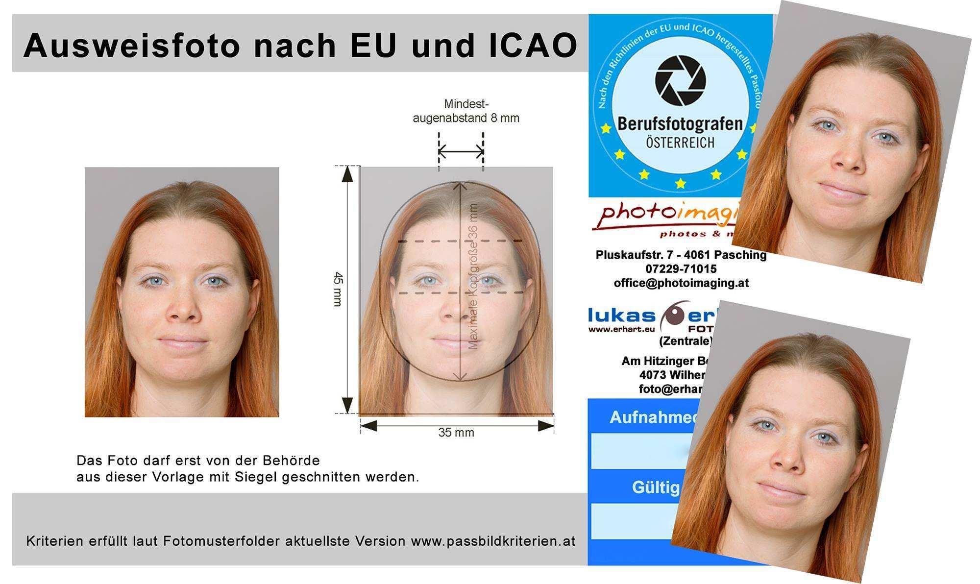 Biometrisches Passfoto Passbilder Nach Eu Norm In Pasching Bei Photoimaging