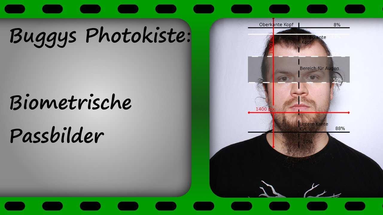 Biometrisches Passbild Foto Und Gimp Buggysphotokiste Youtube
